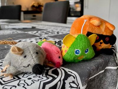 Ladda med leksaker vid matbordet