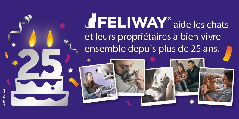 FELIWAY fête ses 25 ans. Célébrez 25 ans d'amour pour les chats et de recherches pour améliorer leur bien-être